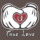 TRUE LOVE - INITIALS - U by mcdba