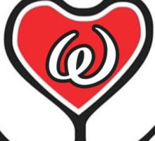 TRUE LOVE - INITIALS - W Sticker