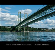 Sunlit Bridgespan - Posters & More by Maria A. Barnowl