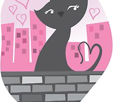 Sweet City kitty on a stone wall by jazzydevil
