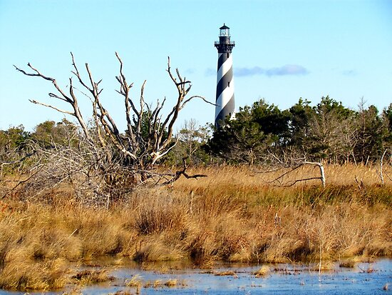 Lighthouse at Cape Hatteras by Alberto  DeJesus