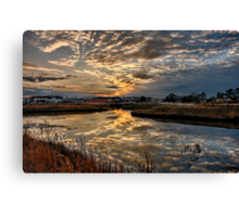 Frontal Clouds At Sunset Canvas Print
