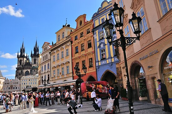Wedding In Prague by Andrew Cryer