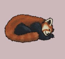 Red Panda sleeping by TheRandomFactor