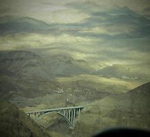 bridge to Hoover Dam  by Debra Kurs