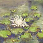 Balboa Water Lilies (pastel) by Niki Hilsabeck