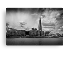 The Thames, The Shard and City Hall Canvas Print