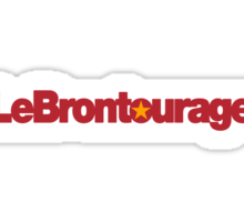 LeBrontourage│Red & Gold Sticker