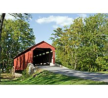 Lancaster County Covered Bridge Photographic Print