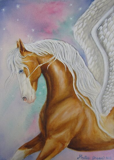 Skyhorse Aurora by louisegreen