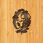 Bamboo Look & Engraved Cute Chinese Dragon by scottorz