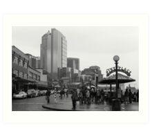 Pike Place (b&w) Art Print