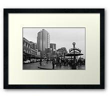 Pike Place (b&w) Framed Print