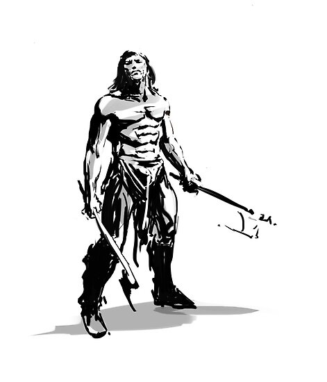 conan_the savage sword by mozsi