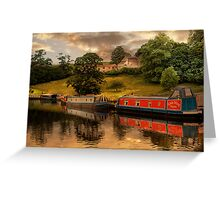 The Canal at East Marton . Greeting Card