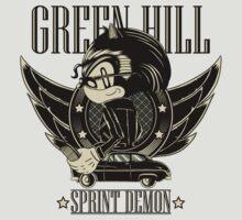 Green Hill Sprint Demon by monochromefrog