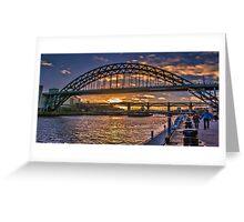 Newcastle Sunset Greeting Card