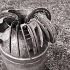Rusty Barrel of Shoes by NestToNest