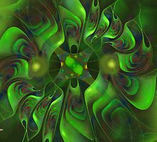 Green Spirals in Motion (Division) by viennablue