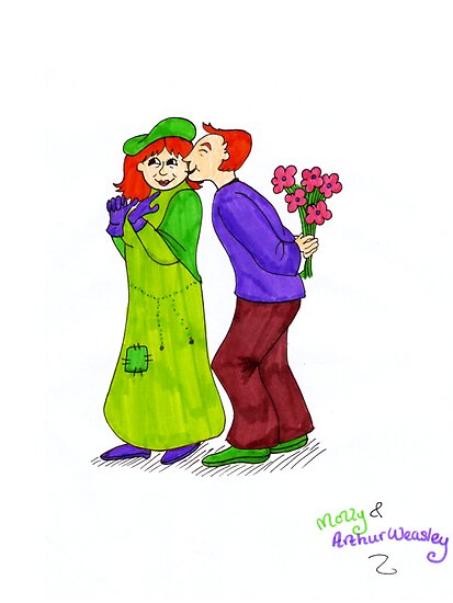 Molly and Arthur Weasley by LittleMizMagic