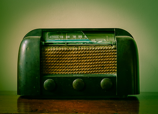 Old Broken Vintage Radio by Carlos Restrepo