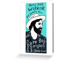 Jerry Jeff Walker Country Folk Art Greeting Card