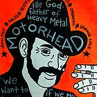 Lemmy Kilmister Motorhead Heavy Metal Folk Art by krusefolkart