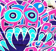 Angry Octupus - Graffiti - Street Art by NicNik Designs
