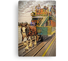 The Horses Are On The Track Metal Print