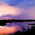 Lightning over the River Braden by Mal Bray