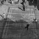 Street badminton by John Callaway