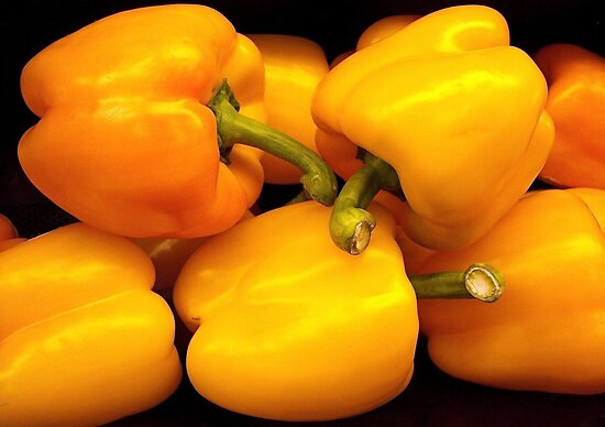 Perfect Yellow Peppers by Kathy Baccari