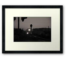 Evening Train Out Of Town Framed Print