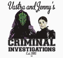 Vastra and Jenny's Criminal Investigations T-Shirt