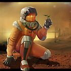Man on Mars Print by locandia