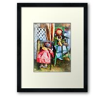 Two Rag Dolls at Flea Market Framed Print
