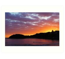 Shelly Beach Sunrise Art Print