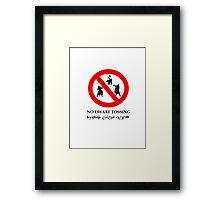 NO DWARF TOSSING-lotr Framed Print