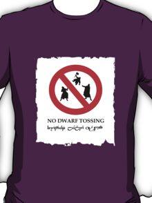 NO DWARF TOSSING-lotr T-Shirt