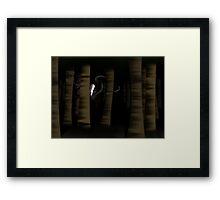 Slenderman in the Trees Framed Print