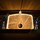 Spinning Steel Wool at Bombo Underpass, Kiama by Kerrod Sulter