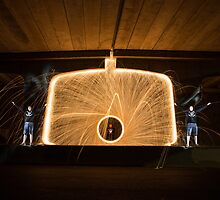 Spinning Steel Wool at Bombo Underpass, Kiama by Kerrod Sulter