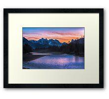 Sky River Sunrise Framed Print