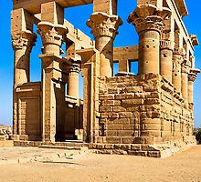 Trajan's Kiosk - Egyptian Ruins on Philae by Mark Tisdale