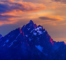 Sunset Over The Grand Teton by Alex Preiss