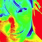 40 Degree Heat in Melbourne - Self Portrait  by Anthea  Slade