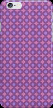 Pink dotty iPhone Case by bradwoodgate