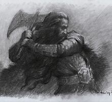 Dwarf Warrior Study by thedrawinghands