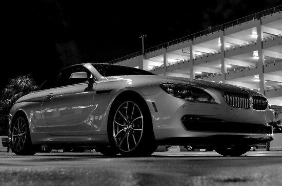 BMW in the Darkness at MIA Airport in Florida by 242Digital