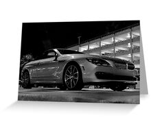 BMW in the Darkness at MIA Airport in Florida Greeting Card